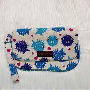 Bungalow 360 Puffer Blow Fish Wristlet Bag